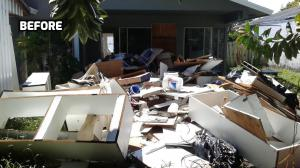 Miami Junk Removal Back Patio